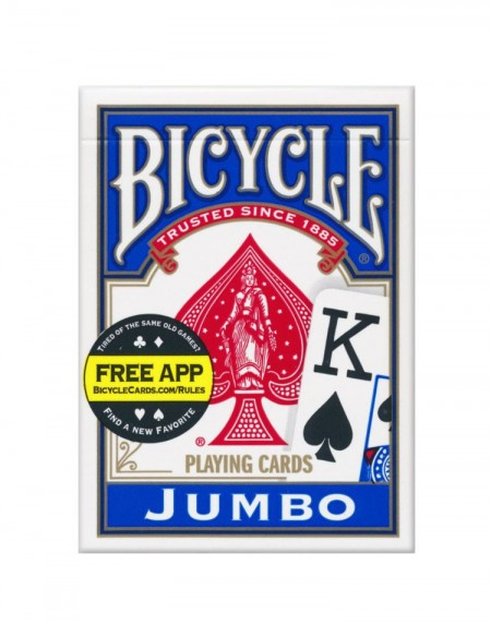 Sam Sebastian Magic Shop - Bicycle Jumbo Index Igralne Karte Modre