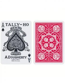 Tally-Ho Fan Back Igralne Karte Rdeče