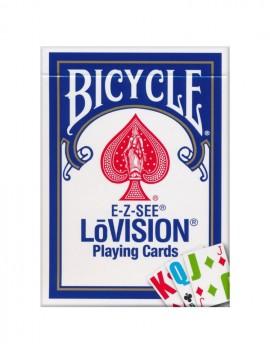 Sam Sebastian Magic Shop - Bicycle E-Z-SEE LōVision Igralne Karte Modre