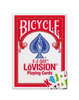 Sam Sebastian Magic Shop - Bicycle E-Z-SEE LōVision Igralne Karte Rdeče