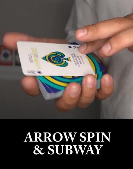 ARROW SPIN & SUBWAY - Sam Sebastian Magic Shop