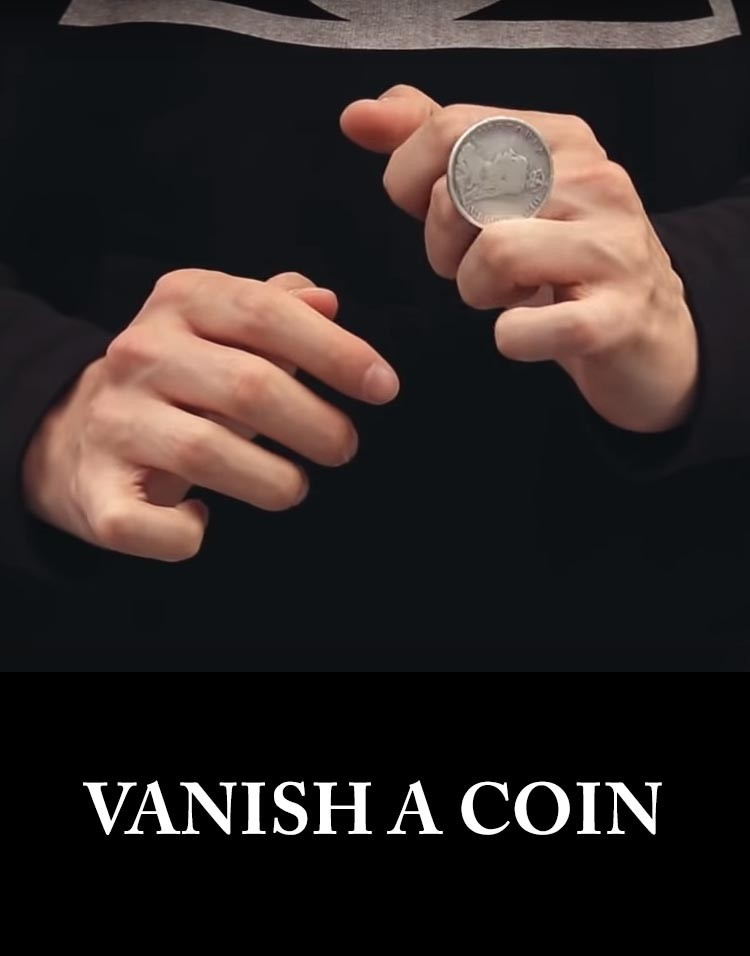 VANISH A COIN - Sam Sebastian Magic Shop