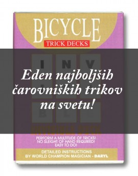 INVISIBLE DECK Bicycle modre
