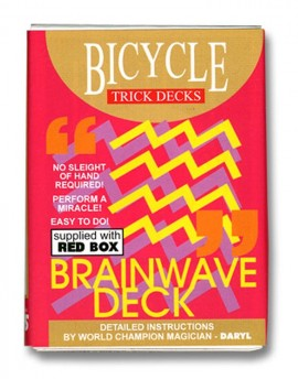 BRAINWAVE DECK Bicycle rdeče - Sam Sebastian Magic Shop
